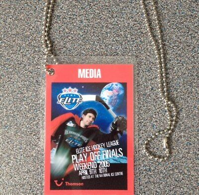 Elite Ice Hockey League Eihl Play-Off Finals 2005 Media Pass