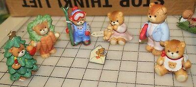 Lot of 6 Lucy Rigg by Enesco - Christmas, Valentine, Fall