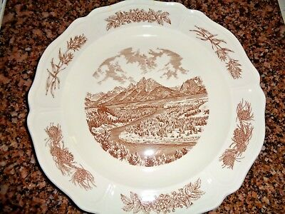 1963 Plate ~ Snake River Overlook, Grand Teton, Wyoming ~ Wedgwood & Barlaston