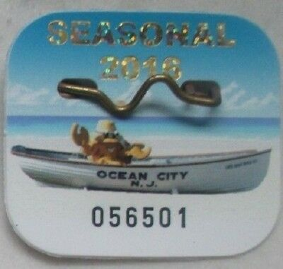 2016 Ocean City Nj Beach Badge Tag Ships Free