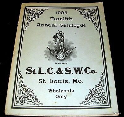 Clock 1904 Catalog St Louis Clock & Silverware Co (1962 Reprint) Novelty Cuckoo