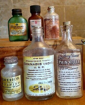 Old Medicine Bottle Hand Crafted, Quaalude,Cannabis,Sedative,Pain,Radithor,Dexe