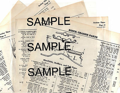 1948 1949 1950 1951 1952 1953 1954 Hudson Jet Body Parts List Frame Crash Sheets