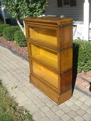 """Antique Oak """"MACEY"""" Barrister/Bookcase """"FREE"""" Greyhound Shipping"""