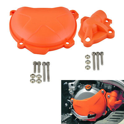 Clutch Cover with Water Pump Guard Protector Bolts For KTM 250 350 SXF EXC-F XCF