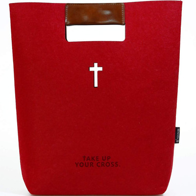 Felt Bible Cover for Women Bag Carrier with Leather Tote Case Journaling /iPad/M
