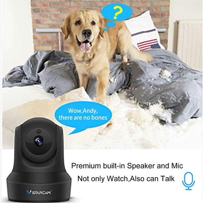 1080P HD Dome Camera,Two-Way Audio,Pan/Tilt/Zoom,Motion Detection,WiFi NEW US