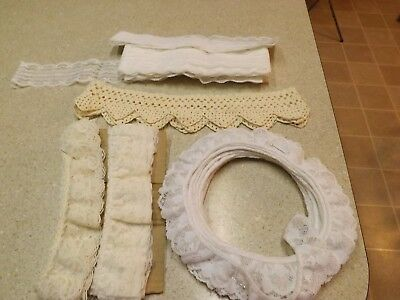 "HUGE LOT~ Vintage Style Assorted 3/4""-2+"" Crochet / Lace Trim~Ivory/Beige/White"