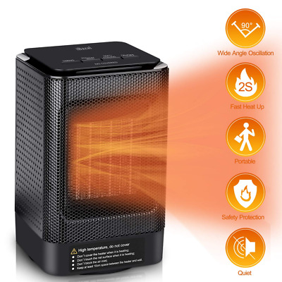 Small Space Heater, Indoor Portable Mini Electric Ceramic Fan Oscillating NEW US