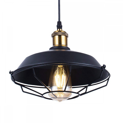 Pendant Light, ZHMA Lamp with Rustic Dome/Bowl Shape Industrial Nautical NEW US