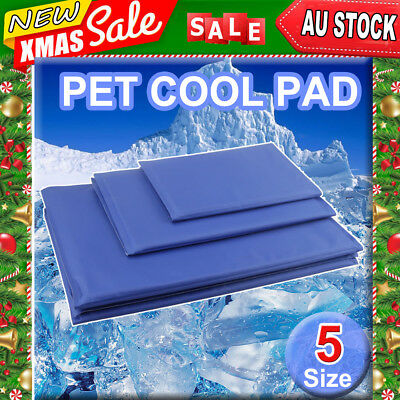 Pet Cool Gel Mat Dog Cat Bed Non-Toxic Cooling Dog Summer Pad Bed Sofa 5 Sizes