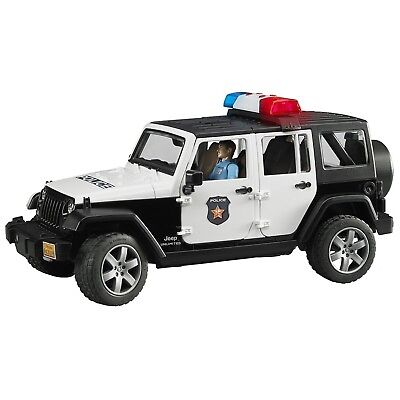 Jeep Rubicon Police car with Policeman Jeep W/ Light Skin Policeman