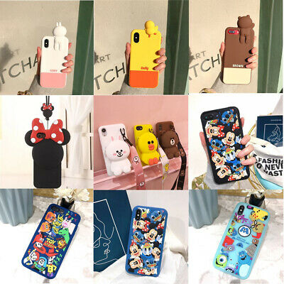 3D Cute Disney Cartoon Silicone Shockproof Case For iPhone XS Max XR X 8 7 6Plus