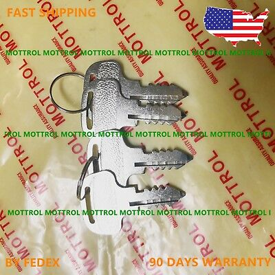 4 PC 18510-63620 Ignition Keys For Kubota Tractor Models M4900 M5700 M6800 M9000