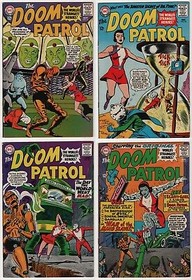 Doom Patrol #91 92 96 97 lot of 4 FN/VF 7.0 higher grade 1st appearance Mento