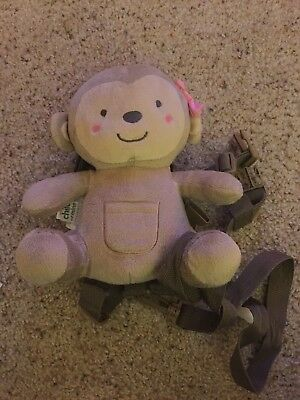 Carters CHILD OF MINE Girl Monkey Safety Harness Leash Toddlers Backpack EEUC