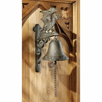 Dragon of Murdock Manor Gothic Antique Cast Iron Bell Vintage Figure For Home
