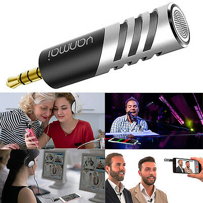 Portable R1 Mini 3.5mm Digital Stereo Condenser Microphone for Recorder PC Phone