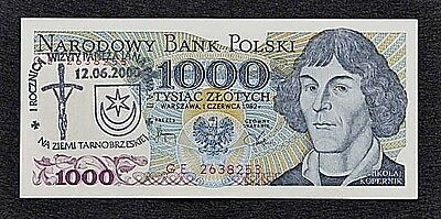 1000 Zlotych 1982 POLAND P-146 /Over print J.P.II / UNC