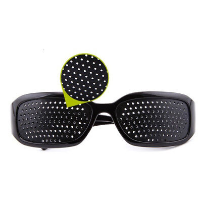Anti-fatigue Micro Hole Glasses Pinhole Vision Care Correction Eyesight Black.