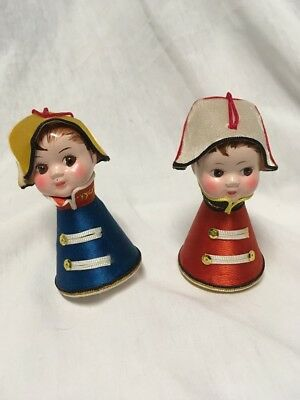 Vintage Miniature Dutch Christmas Boy Girl Ornaments