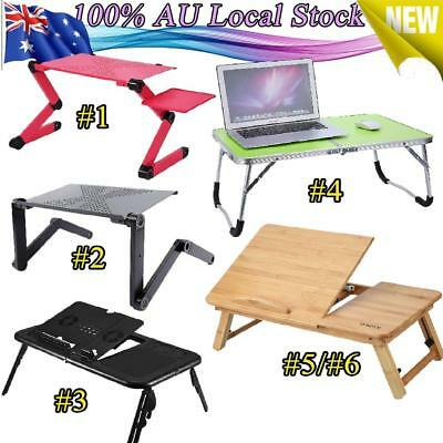 Adjustable Laptop Table Sofa Bed Office Laptop Stand Support Rack Holder Tray AU