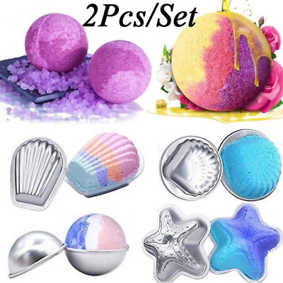 2Pcs 3D DIY Cookie Making Tools Bath Bomb Salt Ball Baking Handmade Soap Molds