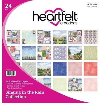 """Heartfelt Creations Double-sided Paper Pad 12""""x12"""" 24/pkg-singing In The Rain,"""