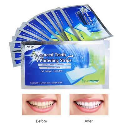 28Pcs Pro Teeth Whitening Strips Stickers Tooth Bleaching Blot Remover Oral Care
