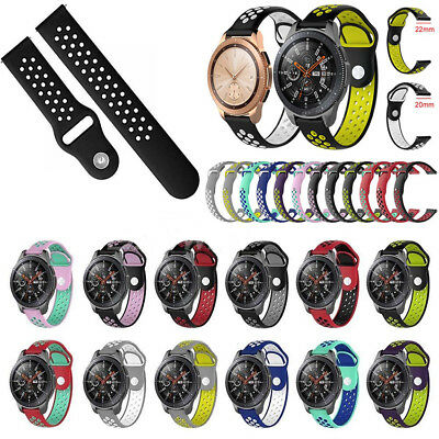 Silicone Sport Bracelet Wristwatch Band Strap For Samsung Galaxy 42/46mm Watch