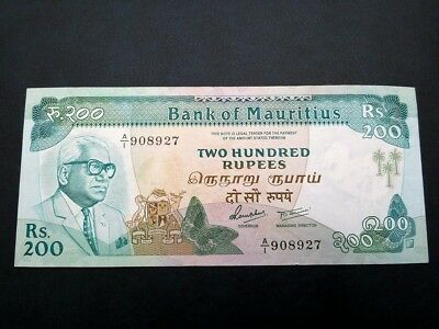 Mauritius 200 Rupees ND 1985., XF