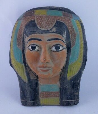 RARE ANCIENT EGYPTIAN ANTIQUE MASK QUEEN Tetisheri Wife of Senakhtenre Ahmose