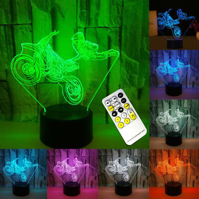Creative Gift Atmosphere 3D Touch Table lamp Night Light With Remote Controller