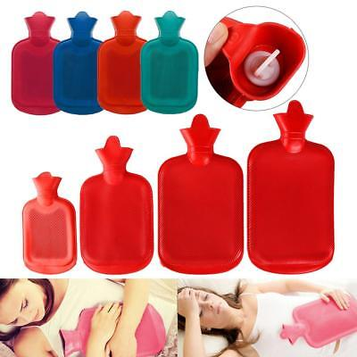 4 Size Durable High Density Rubber Hot Water Bottle Bag Relaxing Heat Therapy #w