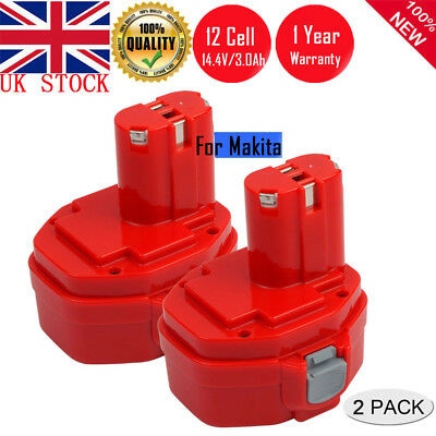 2Pack 14.4V 3.0AH Ni-MH Battery for Makita PA14 1420 1422 1433 192600-1 193985-8