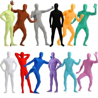 Adult Morph Costume Men Women Spandex Full Body Zentai Lycra Second Skin Suit AU