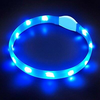 LaRoo LED For All Dog Safety Collar Flashing Rechargeable Light up Adjustable