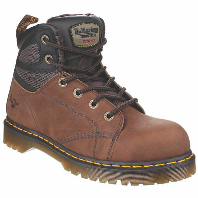 Dr Martens Fairleigh ST 6 eye Lace up SRA, Steel Toe Cap Safet, Brown, size UK10