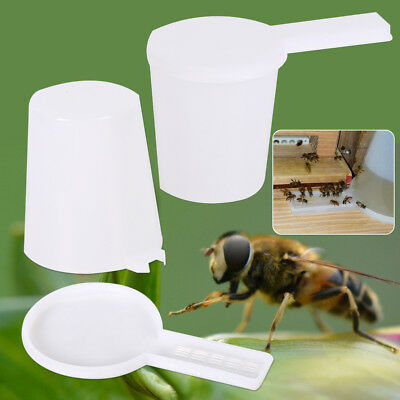 2pc Beekeeping Honey Entrance Water Drinker Bowl Bee Feeder Bottle Set Hive Tool