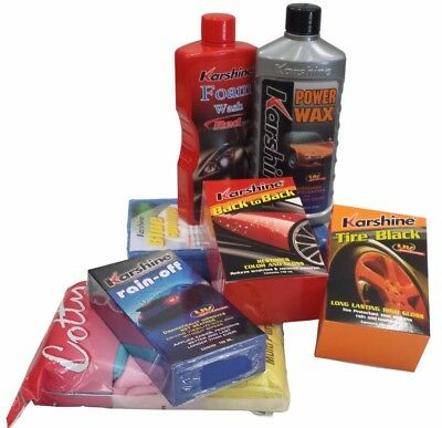 Karshine Products Car Clean Cleaning Care Wash Wax Rain Christmas Deal Pack (K1)