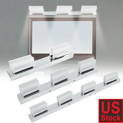 Rotated Modern Bathroom Vanity LED Light Crystal Front Mirror Toilet Wall Lamp
