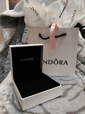 New Authentic Pandora Jewelry Bracelet Gift Box & Gift Bag w paper tissue.EMPTY
