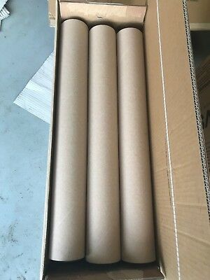 12 Strong Cardboard Tube Packing Storage Crafts Industrial 60cm long rolls