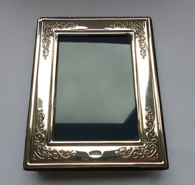 """Superb Vintage RC Sterling Silver Scroll Work Mounted Photo Frame  7.10"""" x 5.60"""""""