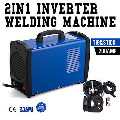 TIG-205S, 200 Amp TIG Torch Stick Arc MMA DC Welder, 110V & 230V Welding New