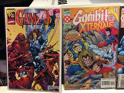 Gambit And The Xternals #2,3,4 & 1/2 Wizard X-Men Age of Apocalypse 1995 VF/NM