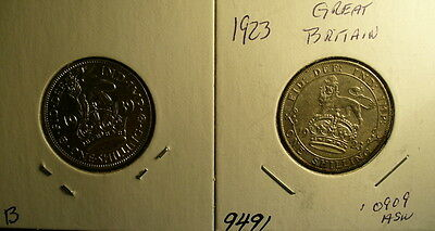 Silver UK Shilling Coins (2)