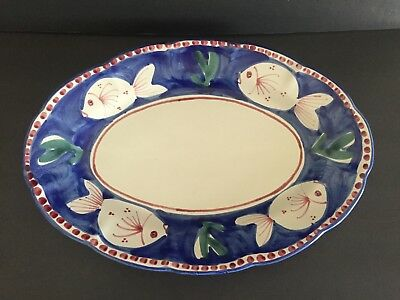 New Mint VIETRI Made in ITALY Solimene Fish Platter 16 inch