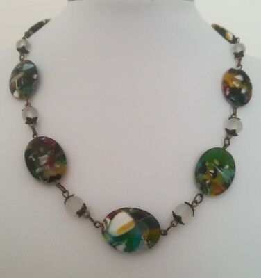 Vintage Art Deco Halskette necklace Millefiori Glass 46 cm wow pretty Venetian