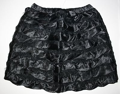 New Hanna Andersson Ruffle ruffle Black Satin Tulle Skirt Size 4 5 yr 110 or NWT